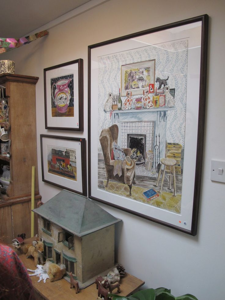 Emily's home which she shares with Mark Hearld