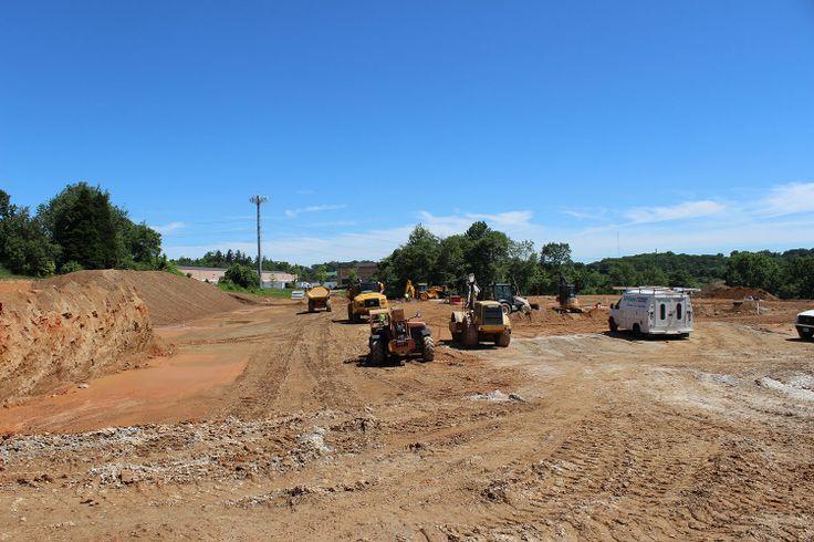 Site work is really underway at the Miller's Minuteman Press site in Owings Mills! This photo was taken June 20, 2014.