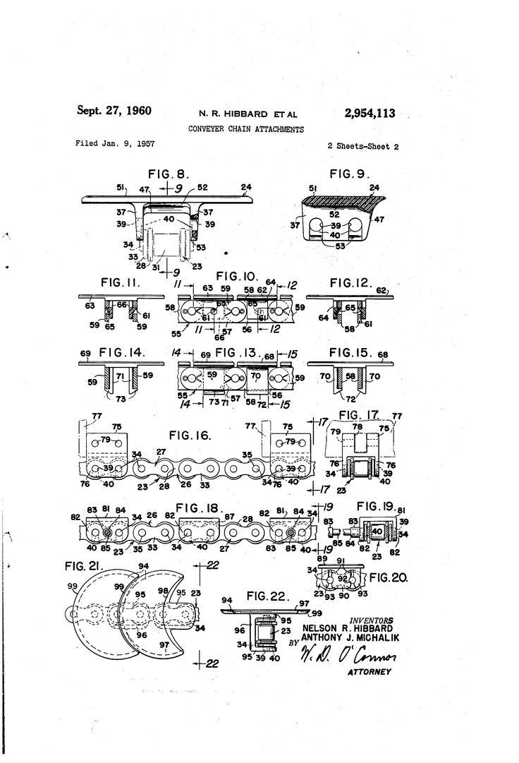 Patente US2954113 - sujeciones de la cadena de transportador - Google Patentes