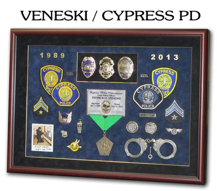 Police Ofc shadow box