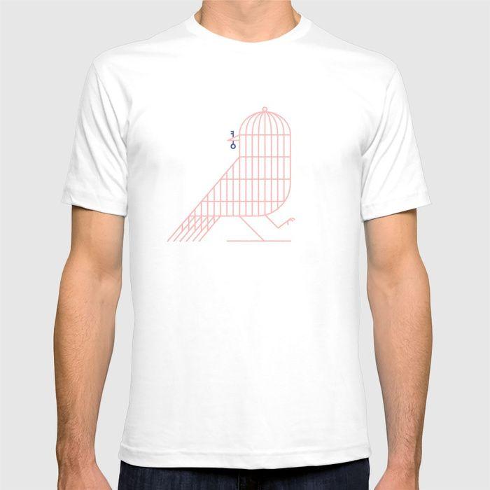BIRD T-shirt by marcodemasiillustration.