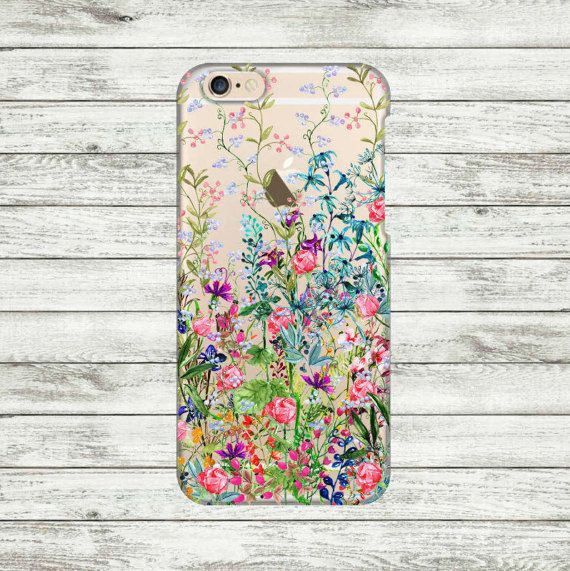 iPhone 6 flowers transparent Case iPhone 6 / 6s Plus Case