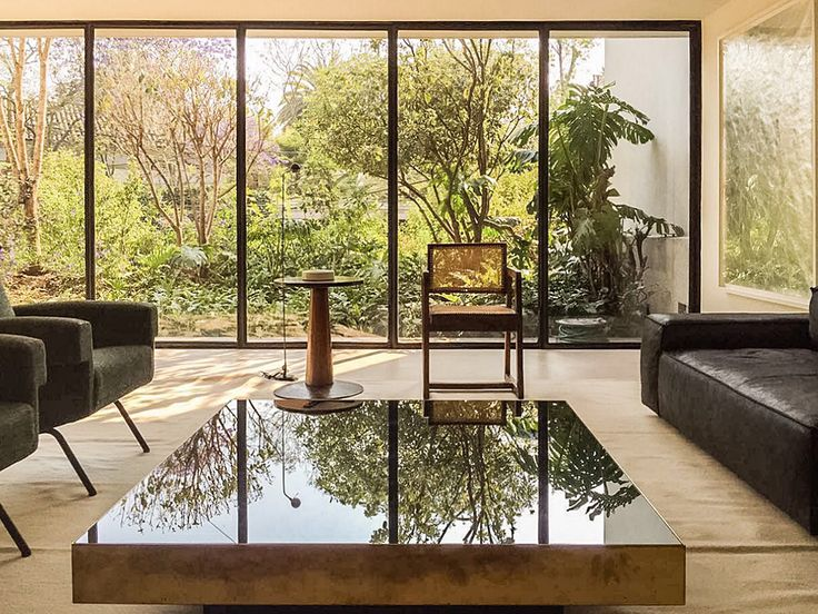 Townhouse Mexico City Living Room Marc Merckx Interiors
