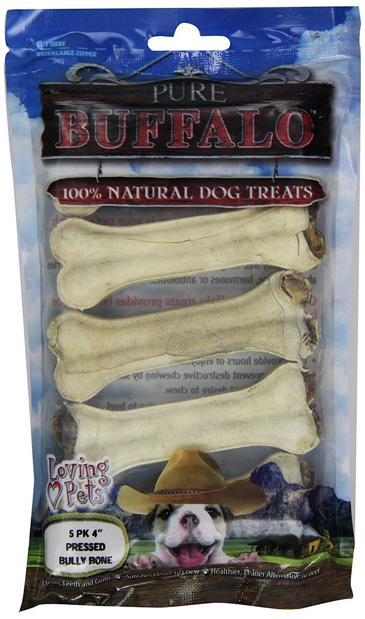 Loving Pets Pure Buffalo 4-Inch Pressed Bully Bone Dog Treat * Be sure to check out this awesome product. (This is an affiliate link and I receive a commission for the sales)