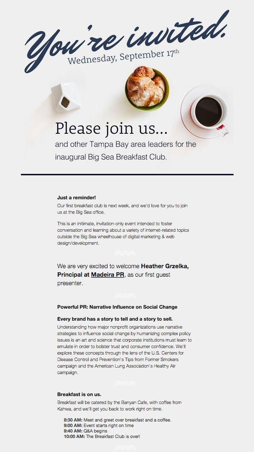 template for email invitation