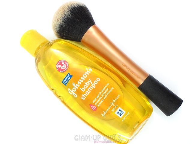 Using Johnsons Baby Products For Beauty And Tool Care Reviews How To Clean Makeup Brushes Brush