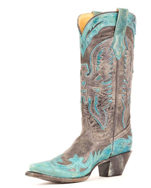 Corral Women's Black/Turquoise Crater Eagle Boot - R2266 - Country Outfitter.