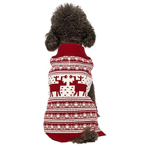 Blueberry Pet Vintage Reindeer Dog Christmas Sweater - http://www.christmasshack.com/dog-christmas-sweaters/blueberry-pet-vintage-reindeer-dog-christmas-sweater/