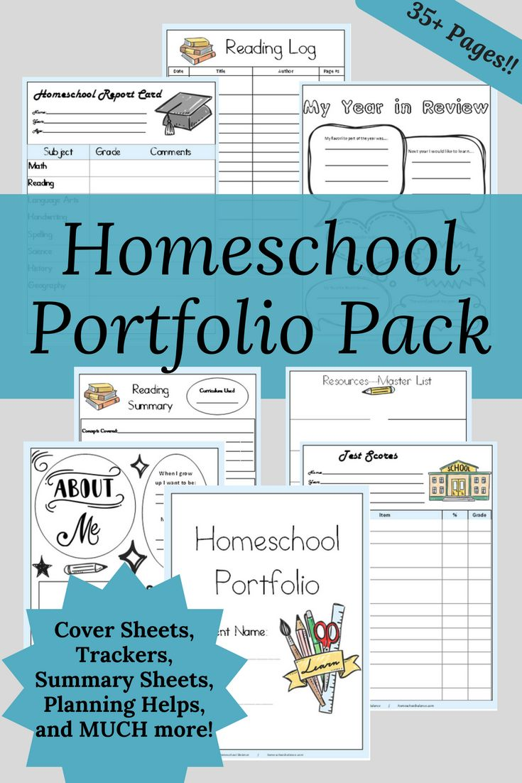 Get your 35+ page Homeschool Portfolio Pack for FREE for a limited time! #