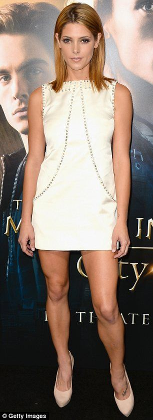 Ashley Greene wearing a Temperley London Shift Dress at The Mortal Instruments Premiere