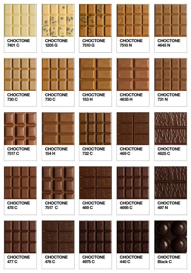 8/8 chocolate tones from pantone, nice tones for leathers.