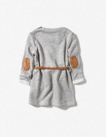 a dress with elbow patches for a little girl - too cute