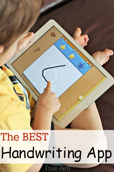 The Best Handwriting App for Kids! Multiple users, 3 different styles to choose from, self correcting, free printable worksheets!