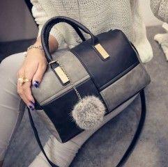 Dvoubarevná dámská kabelka s popruhem šedivo černá - kabelky přes ramenoPošta Zdarma
