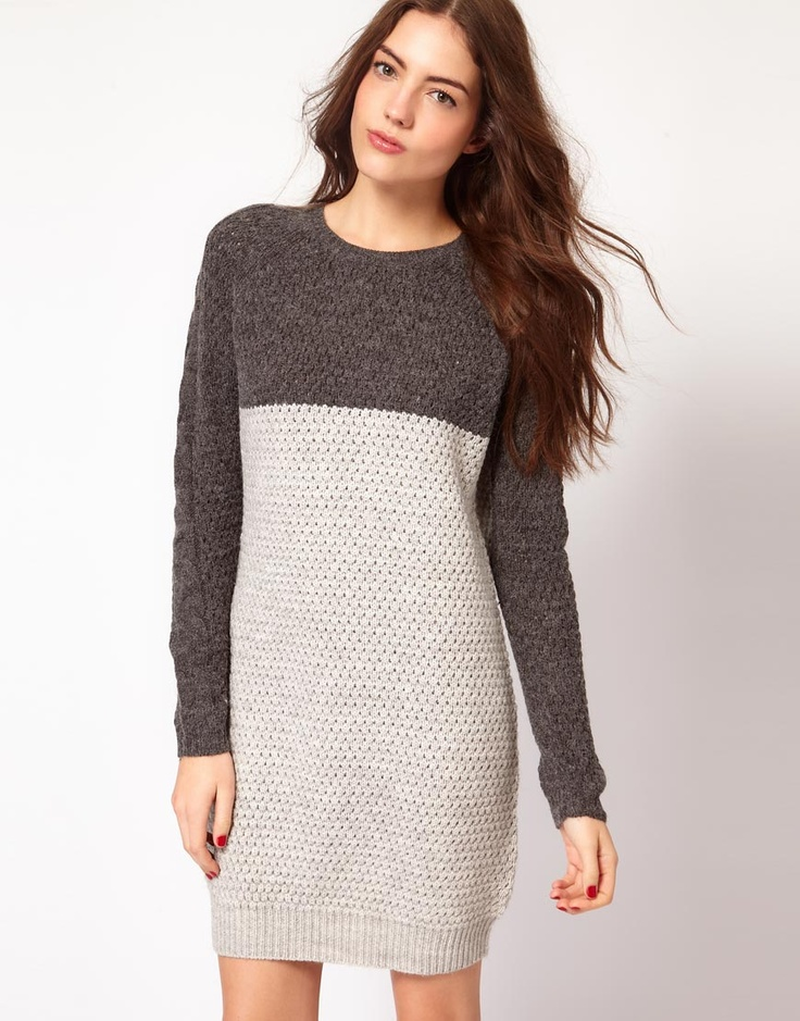 Vila Color Block Knitted Dress $38