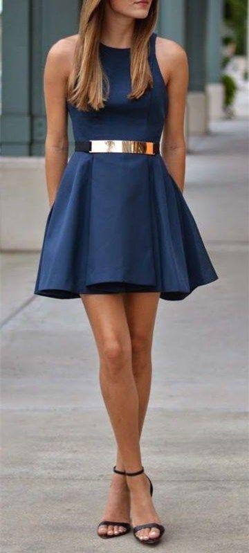 2016 Custom Cahrming Blue Simple Homecoming Dress,Sexy Sleeveless Evening…