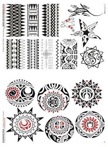 Polynesian Tattoo Flash | Polynesian and Maori Tattoo Flash Book #maori #tattoo #tattoos