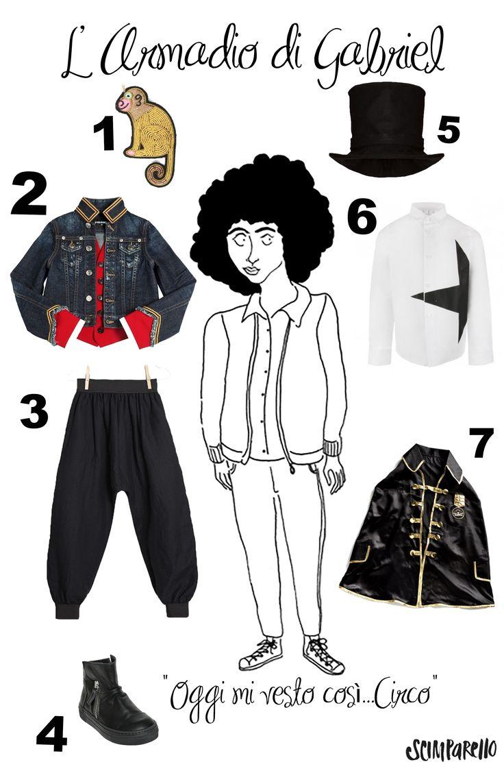 Gabriel's wardrobe...get the Circus look by Scimparello