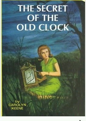 "Carolyn Keene NANCY DREW MYSTERY STORIES""THE SECRET OF THE OLD CLOCK"" 1959 Great"