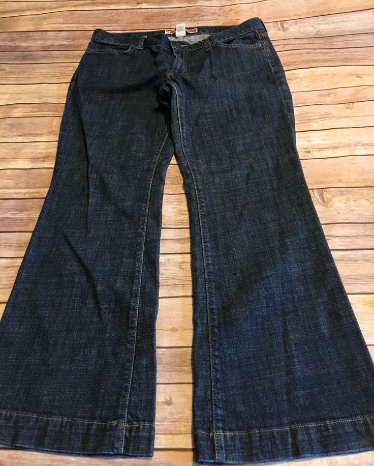 Gap Long And Lean Women's Flare Dark Wash Denim Jeans Sz 12A Ankle Length  | eBay