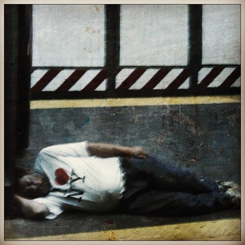 New York subway snooze.