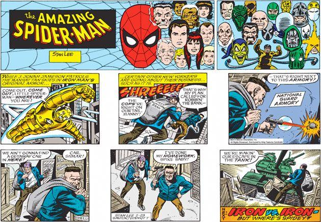 This Super Hero Comic Strip Features Exterior Scenes