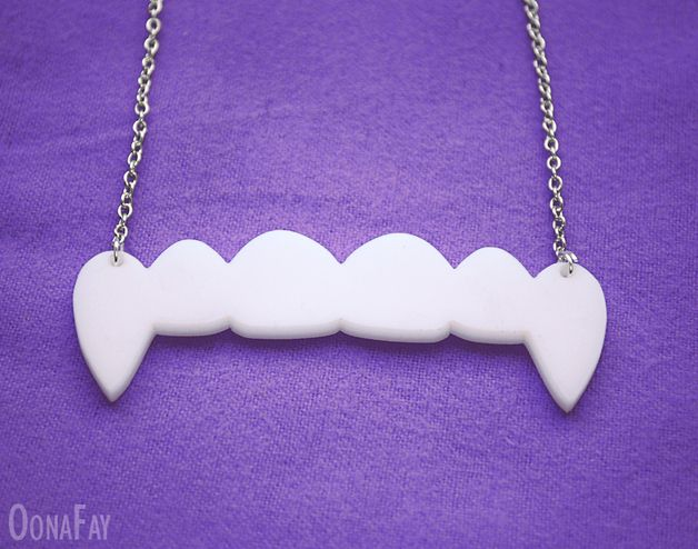 via en.dawanda.com Medium Necklaces – Vampire Fangs Necklace – a unique product by OonaFay on DaWanda