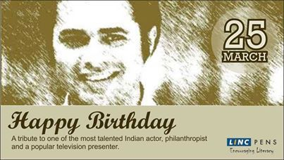 #LINCTRIBUTE : In remembrance of the brilliant actor #FarooqSheikh, who passed away in December last year #LINCPENS takes this opportunity to wish him a very #HappyBirthday !!! #Tribute #IndianActor #EncouragingLiteracy