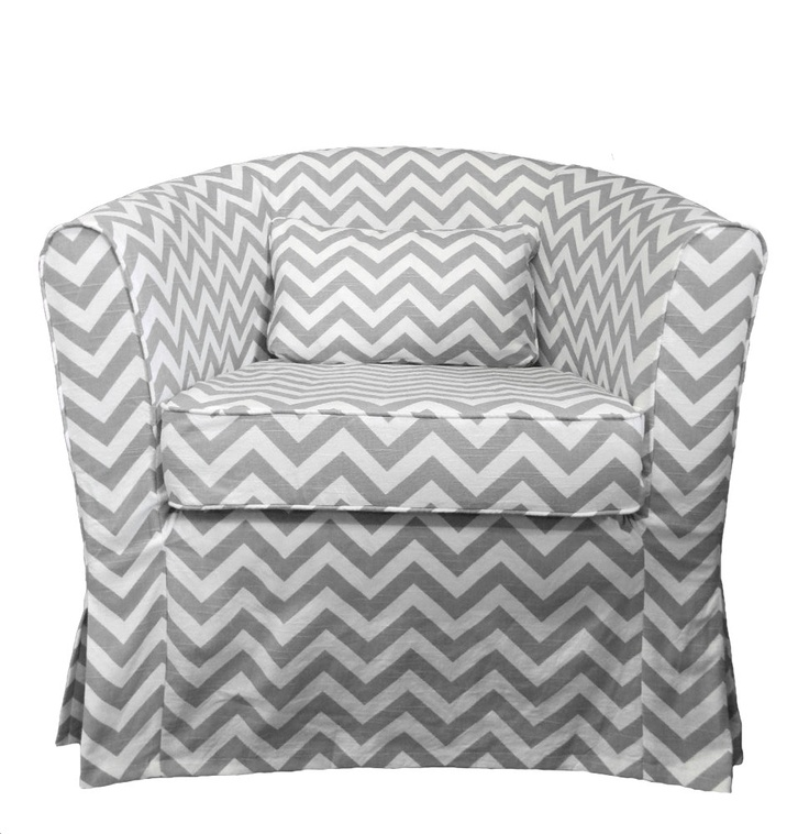 Fantastic Jcaroline S Home Ikea Tullsta Tub Chair Cover In Nautical Gmtry Best Dining Table And Chair Ideas Images Gmtryco