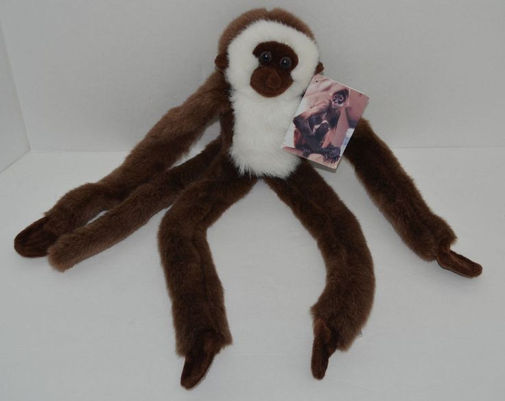 Aurora Spider Monkey Plush Brown White Long Arms