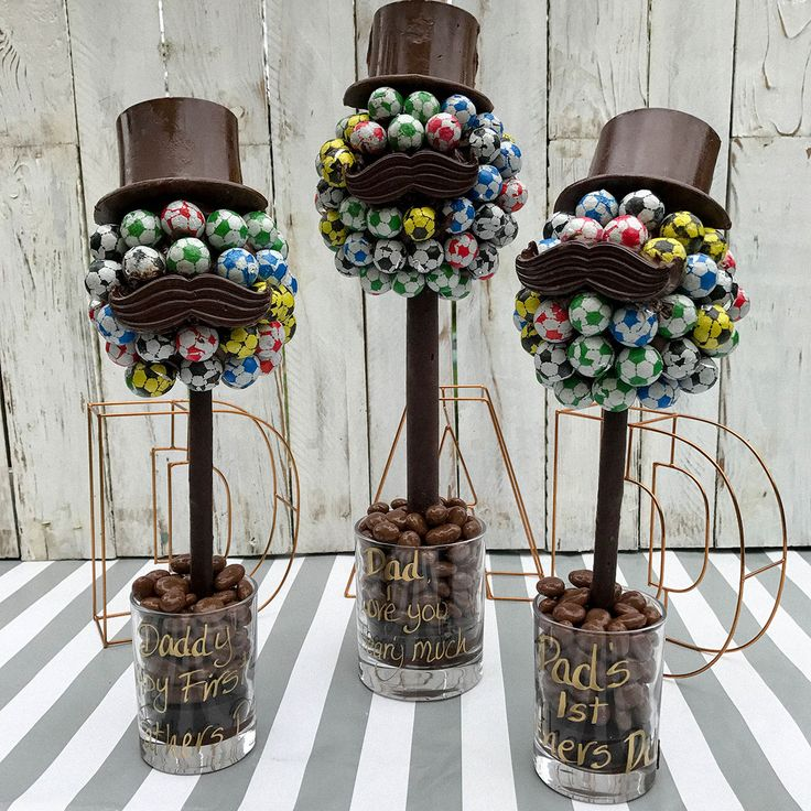 Personalised Football Hat amp Moustache Sweet Tree