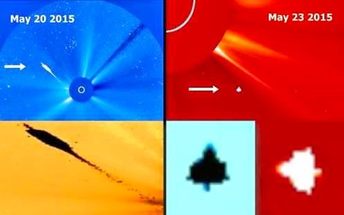 More Activities UFOs around the Sun - Huge Objects not identified Captured by SOHO