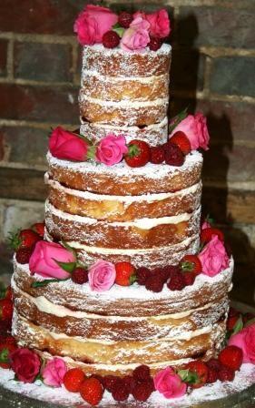 Another Naked Wedding Cake.
