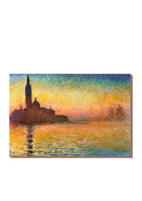 Art.Com  Sunset In Venice Stretched Canvas Print  Online Only - Brown - One Size