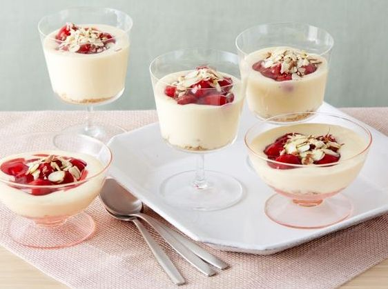 Cherry Cheesecake Shooters recipe. Great 4th of July Dessert! @thepioneerwoman via WomansWorld.com