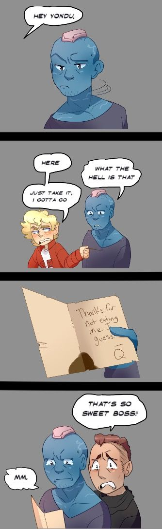 Yondu's Father's Day Present  By: The Little Hero AU