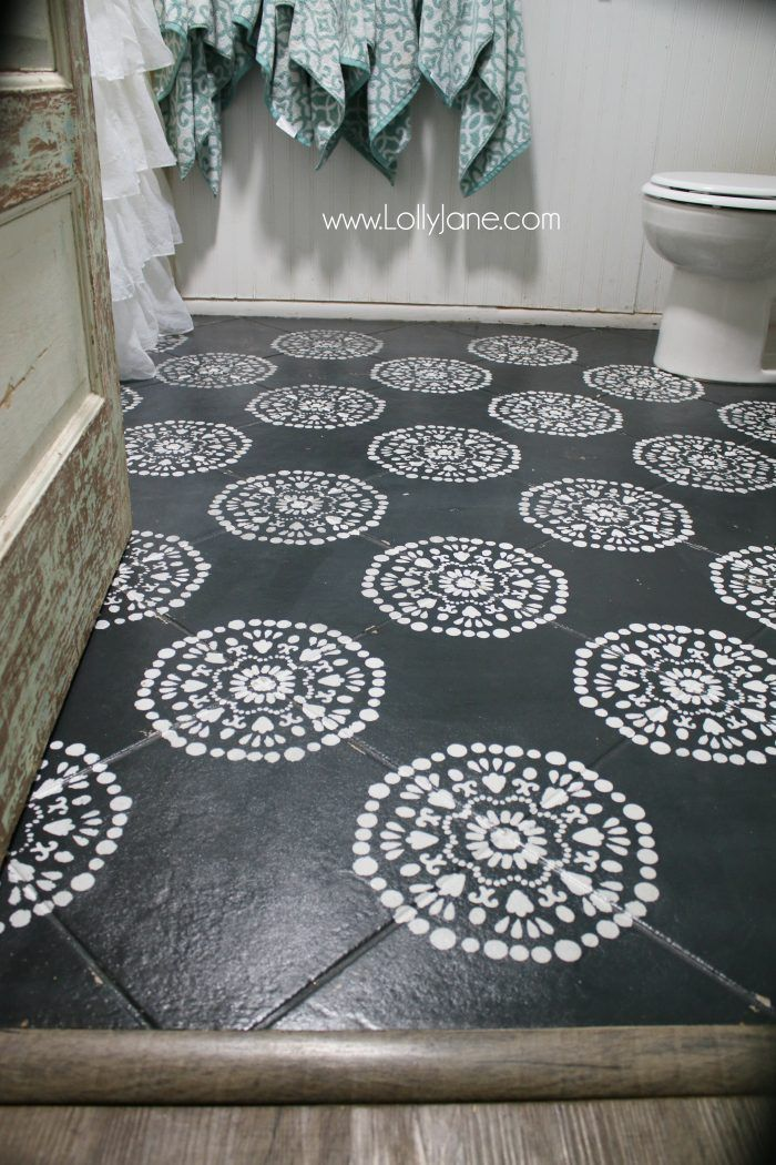 Hate your tile floors paint them painted tiles tile for Wholesale chalk paint
