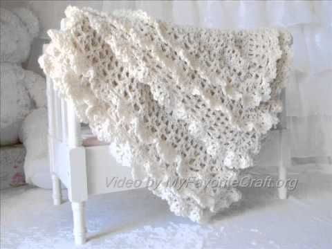 baby doll filet afghan free crochet pattern right handed youtube