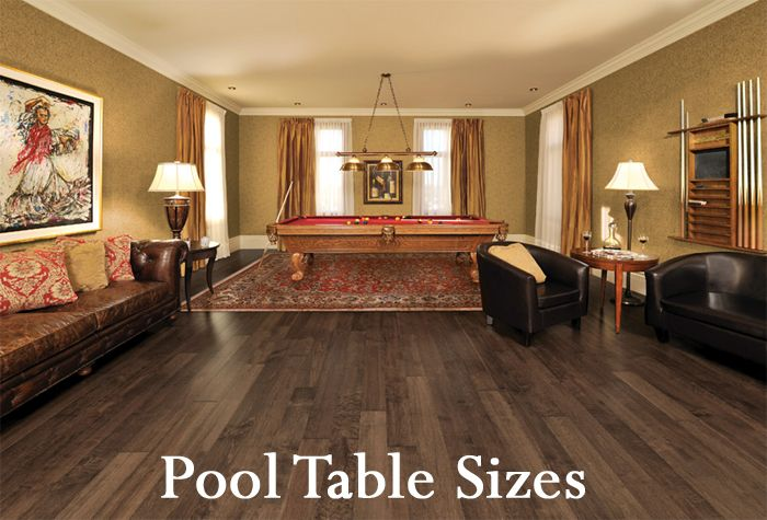Did you know that pool tables, also called billiard tables and close cousins are the snooker table or English billiard table, come in different standard sizes?  Click the photo above to see more info.