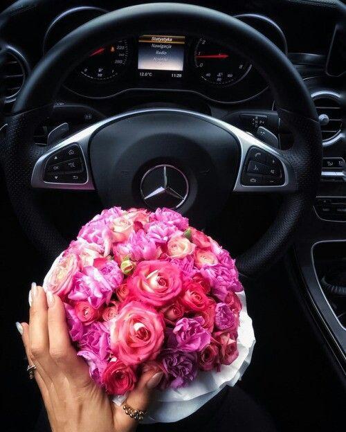 Открытки цветов в машине, смешные