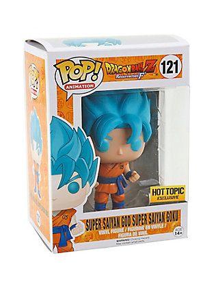 Funko Dragon Ball Z: Resurrection 'F' Pop! Animation Super Saiyan God Super Saiyan Goku Vinyl Figure Hot Topic Exclusive,