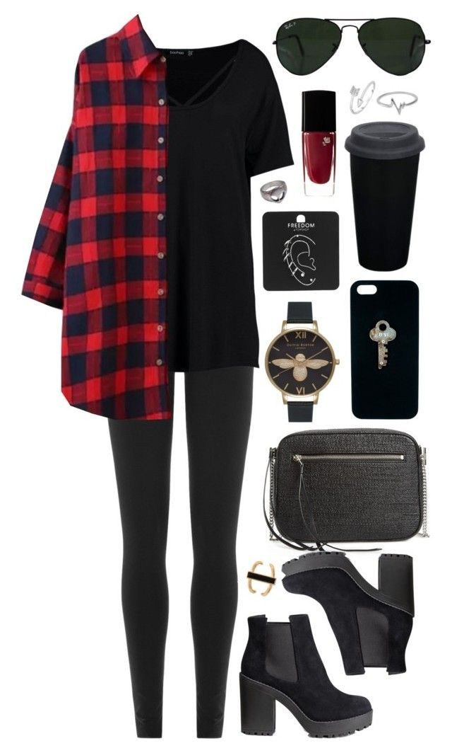 Untitled #686 by clary94 on Polyvore featuring polyvore, Boohoo, DKNY, H&M, AllSaints, Topshop, Forever 21, Jewel Exclusive, The Giving Keys, Ray-Ban, Lancôme, fashion, style and clothing