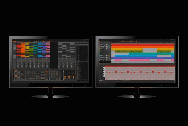 Dual monitor support in Bitwig Studio.