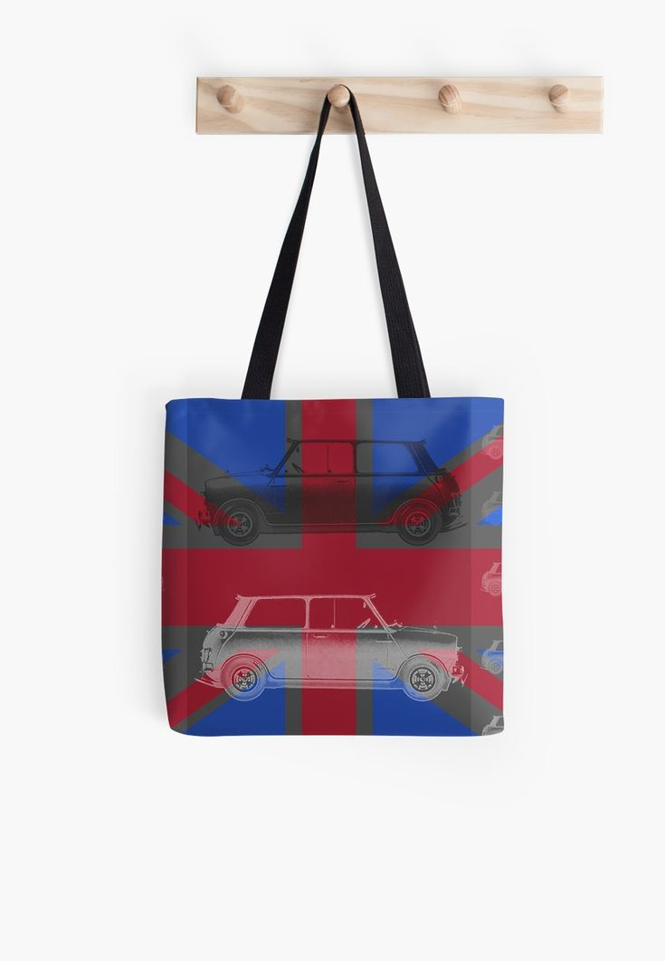20% off every single thing. Use code GET20. Vintage Cars England Flag Tote bag  by emilypigou. #totebag #england #englandflag #sales #save #discount #redbubble #style #family #gifts #giftsforher #bookbag #englandtotebag #shopping #online #onlineshopping #cars #vintagecars #popart #xmasgifts #christmasgifts