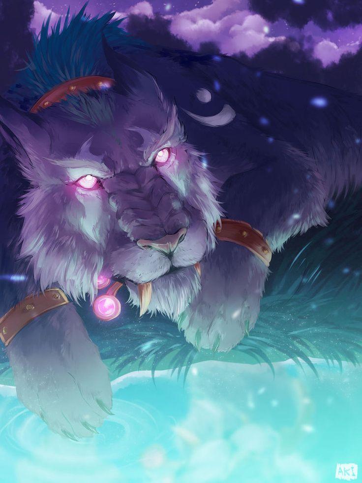 -//Nightelf Cat//- by GardenShard on DeviantArt