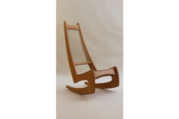 Jeremy Broun High Back Rocking Chair, 1973 | Vinterior   #midcentury #modern #20thcentury