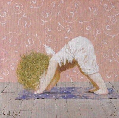 Hasta los ángeles practican yoga!!