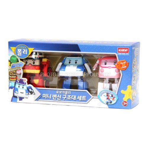 #Mini #Robocar #Poli #Amber #Roy Transformation #Robot Korean Animation 3pcs Set #Toys