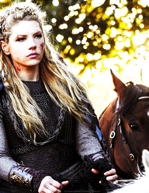 Vikings shield maiden Lagertha. 'Bout time we had historical bad-ass warrior women to aspire to!