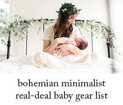 Bohemian Minimalist Baby Gear List // Living With Less | Salt + Sea | Coastal Bohemian Homeschool Lifestyle Blog